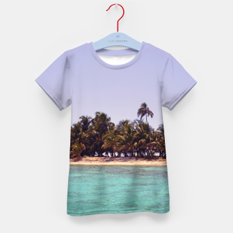 Thumbnail image of Tropical Caribbean Island Kid's T-shirt, Live Heroes
