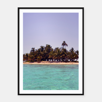 Thumbnail image of Tropical Caribbean Island Framed poster, Live Heroes