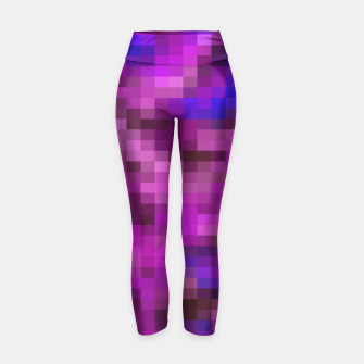 Thumbnail image of pixel geometric square pattern abstract in purple pink and blue Yoga Pants, Live Heroes