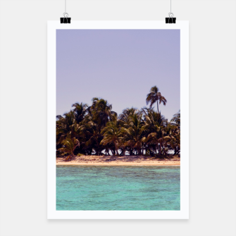 Thumbnail image of Tropical Caribbean Island Poster, Live Heroes