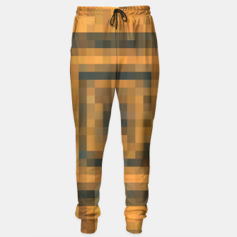Miniatur pixel geometric square pattern abstract in brown and black Sweatpants, Live Heroes