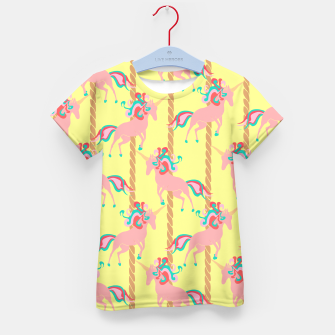 Thumbnail image of Pink Unicorn Carousel  Kid's T-shirt, Live Heroes