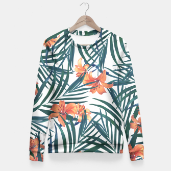 Thumbnail image of Tropical Lilies 2 Fitted Waist Sweater, Live Heroes