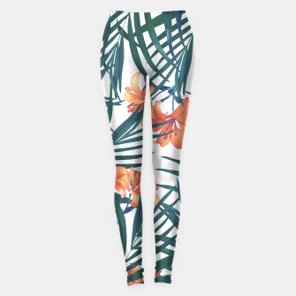 Thumbnail image of Tropical Lilies 2 Leggings, Live Heroes
