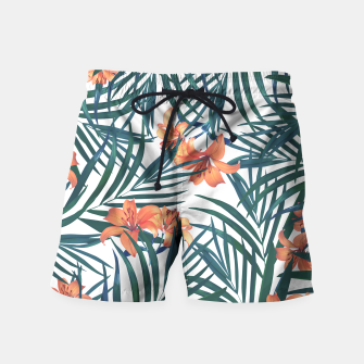 Thumbnail image of Tropical Lilies 2 Swim Shorts, Live Heroes