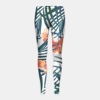 Thumbnail image of Tropical Lilies 2 Girl's Leggings, Live Heroes