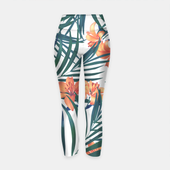 Thumbnail image of Tropical Lilies 2 Yoga Pants, Live Heroes