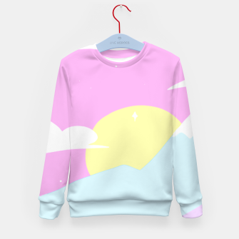 Miniatur Pastel Night Kid's Sweater, Live Heroes