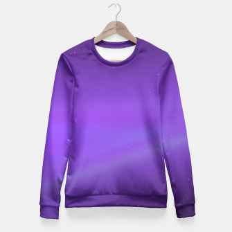 Miniatur Purple Space Fitted Sweater, Live Heroes