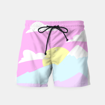 Miniatur Pastel Night Swim-Shorts, Live Heroes