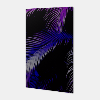 Thumbnail image of Tropical Purple Palm Leaves Canvas, Live Heroes