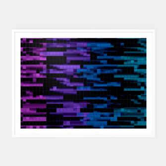 Thumbnail image of Mosaic Color Bars Framed poster, Live Heroes