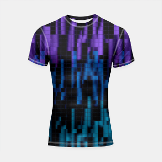 Thumbnail image of Mosaic Color Bars Shortsleeve Rashguard, Live Heroes