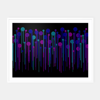 Thumbnail image of Colorful Dots & Drips Framed poster, Live Heroes