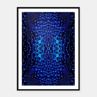 Thumbnail image of Abstract Raindrops Pattern Framed poster, Live Heroes