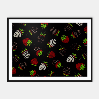 Thumbnail image of Chocolate Dipped Strawberries Pattern  Framed poster, Live Heroes