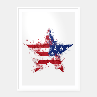Thumbnail image of Americana Framed poster, Live Heroes