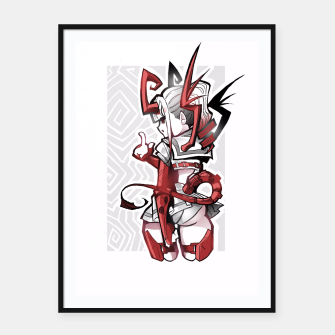 Thumbnail image of cutie bootie red Framed poster, Live Heroes