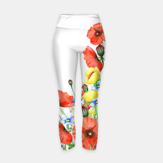 Thumbnail image of Poppies Yoga Pants, Live Heroes