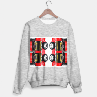 Thumbnail image of red classic car Sweater regular, Live Heroes