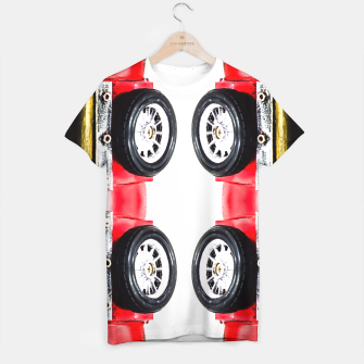 Thumbnail image of red classic car T-shirt, Live Heroes