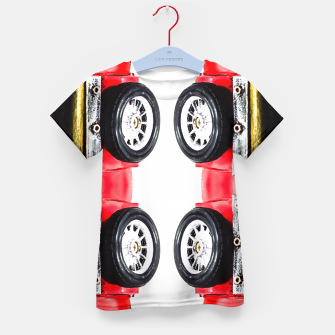 Thumbnail image of red classic car Kid's T-shirt, Live Heroes