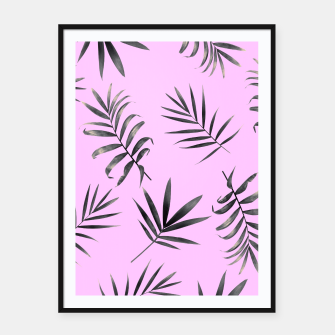 Thumbnail image of Palm Leaves Framed poster, Live Heroes