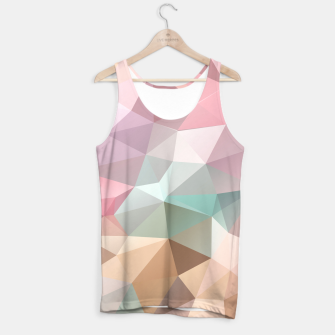 Miniatur Pastel Polygon Tank Top, Live Heroes