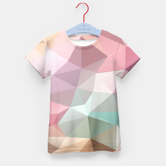 Thumbnail image of Pastel Polygon Kid's T-shirt, Live Heroes