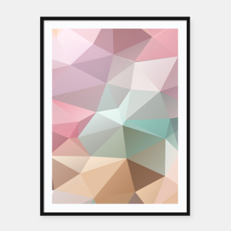 Thumbnail image of Pastel Polygon Framed poster, Live Heroes