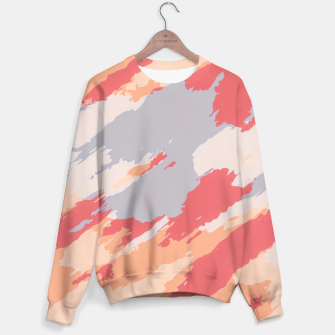 Miniatur camouflage graffiti painting texture abstract in pink blue brown Sweater, Live Heroes