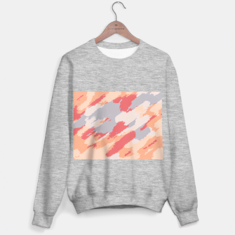 Thumbnail image of camouflage graffiti painting texture abstract in pink blue brown Sweater regular, Live Heroes