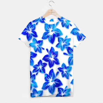 Thumbnail image of blue hibiscus T-shirt, Live Heroes