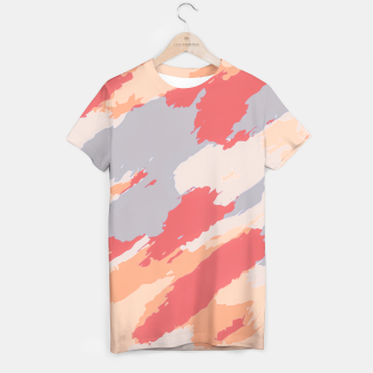 Thumbnail image of camouflage graffiti painting texture abstract in pink blue brown T-shirt, Live Heroes