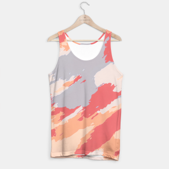 Miniatur camouflage graffiti painting texture abstract in pink blue brown Tank Top, Live Heroes