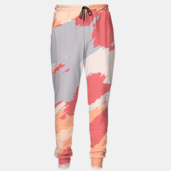 Miniatur camouflage graffiti painting texture abstract in pink blue brown Sweatpants, Live Heroes