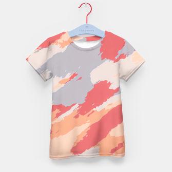 Thumbnail image of camouflage graffiti painting texture abstract in pink blue brown Kid's T-shirt, Live Heroes