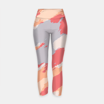 Thumbnail image of camouflage graffiti painting texture abstract in pink blue brown Yoga Pants, Live Heroes