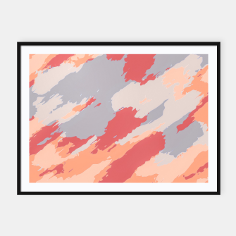 Thumbnail image of camouflage graffiti painting texture abstract in pink blue brown Framed poster, Live Heroes