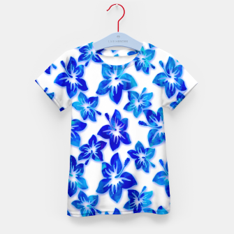 Thumbnail image of blue hibiscus Kid's T-shirt, Live Heroes