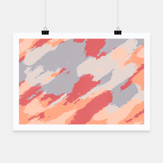 Miniatur camouflage graffiti painting texture abstract in pink blue brown Poster, Live Heroes