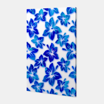 Thumbnail image of blue hibiscus Canvas, Live Heroes