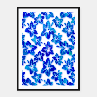 Thumbnail image of blue hibiscus Framed poster, Live Heroes