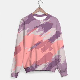 Miniatur camouflage graffiti painting texture abstract  in purple and pink Sweater, Live Heroes