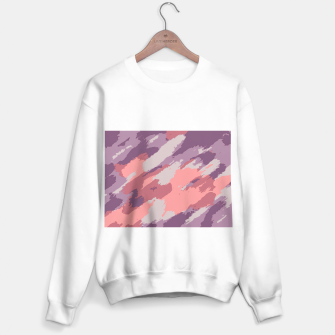 Thumbnail image of camouflage graffiti painting texture abstract  in purple and pink Sweater regular, Live Heroes