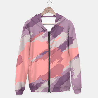 Miniatur camouflage graffiti painting texture abstract  in purple and pink Hoodie, Live Heroes