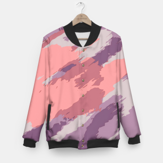Miniatur camouflage graffiti painting texture abstract  in purple and pink Baseball Jacket, Live Heroes