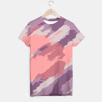 Thumbnail image of camouflage graffiti painting texture abstract  in purple and pink T-shirt, Live Heroes