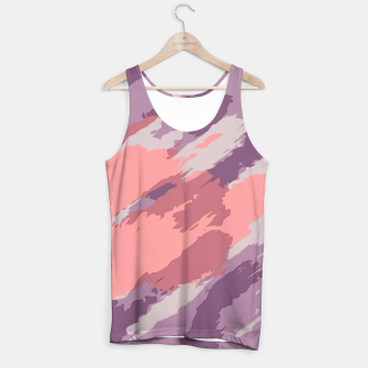Miniatur camouflage graffiti painting texture abstract  in purple and pink Tank Top, Live Heroes