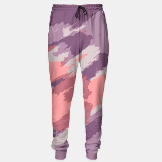 Miniatur camouflage graffiti painting texture abstract  in purple and pink Sweatpants, Live Heroes